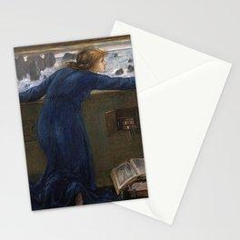 Edward Burne-Jones - Dorigen of Bretagne longing for the safe return of her husband Stationery Cards