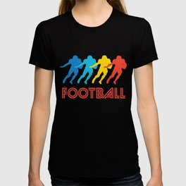 Running Back Retro Pop Art Football T-shirt