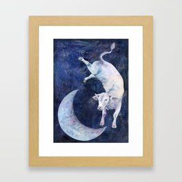 The Cow Jumped Over The Moon - II Framed Art Print