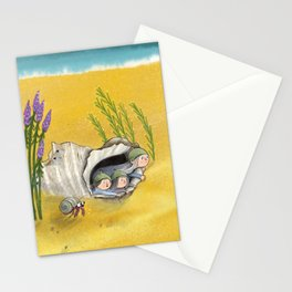 Children's folktale illustration - message in a bottle Stationery Cards
