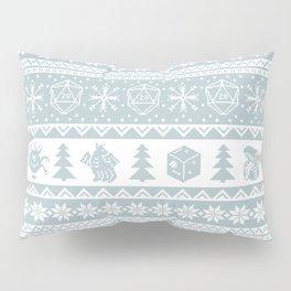 "Roll for Initiative Fair Isle in ""Snowflake"" Pillow Sham"