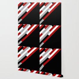 Diagonal stripes pattern Wallpaper