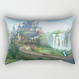 epic fantasy castle  Rectangular Pillow