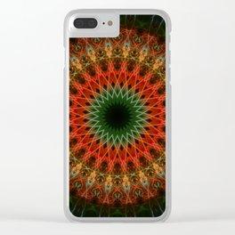Autumn mandala Clear iPhone Case