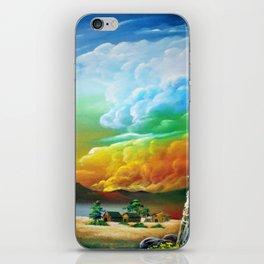 Burning cumulonimbus iPhone Skin