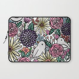 Flowers, Birds & A Heart Laptop Sleeve