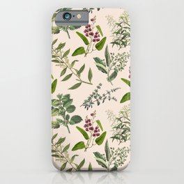 HERBARIUM & PINK CHAMPAGNE iPhone Case