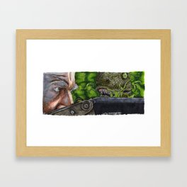 Jurassic Park - Clever Girl Framed Art Print