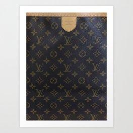 LV style Louis Art Print