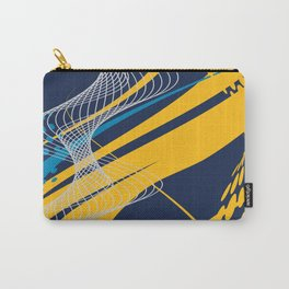 Blue Yellow  Abstract Future Technical Carry-All Pouch