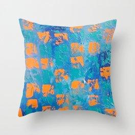 Abstract - True Blue Throw Pillow