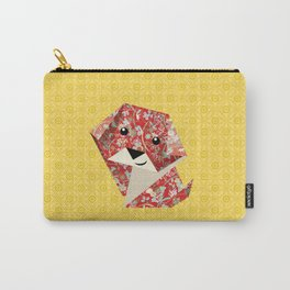 Origami Puppies With Yellow Background Carry-All Pouch
