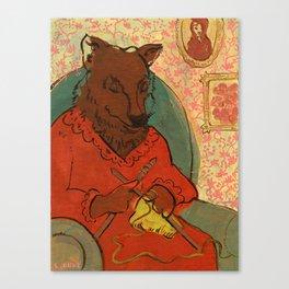 Mr. Wolf Ate Granny Canvas Print