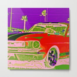 Red Stang Metal Print