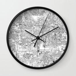 Las Vegas White Map Wall Clock