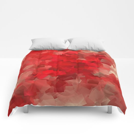 red modern pattern Comforters