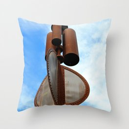 Wind Chimes for Giants Throw Pillow
