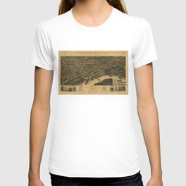 Vintage Pictorial Map of Selma Alabama (1887) T-shirt