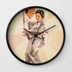 polygonal japanese dancer Wall Clock
