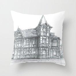 Tenement house in Toruń, Poland Throw Pillow