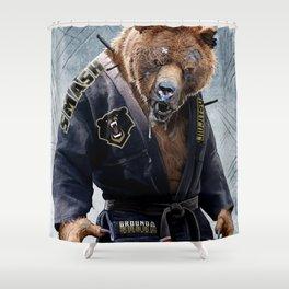 Jiu Jitsu Grizzly Shower Curtain