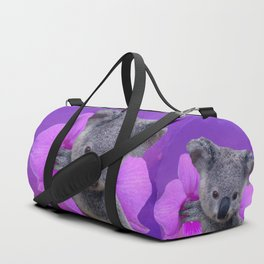 Koala and Orchid Duffle Bag