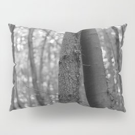 Old love, black and white photography trees Pillow Sham