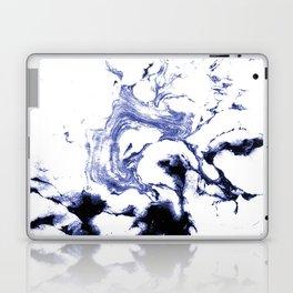 Suminagashi marble watercolor pattern art pisces water wave ocean minimal design Laptop & iPad Skin