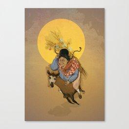 Cholita on the run Canvas Print