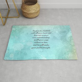 Proverbs 3:5-6, Encouraging Bible Quote Rug
