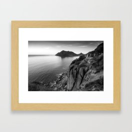 View from Chapman's Peak drive in Cape Town, South Africa Framed Art Print