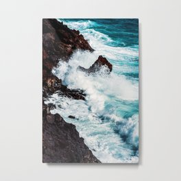 CONFRONTING THE STORM / Lanzarote, Spain Metal Print