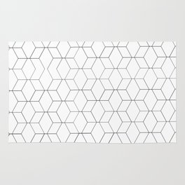 Black and white geometrics Rug