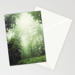 German Jungle - Forest in Morning Mist Stationery Cards