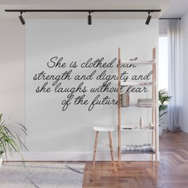 she is clothed Wall Mural