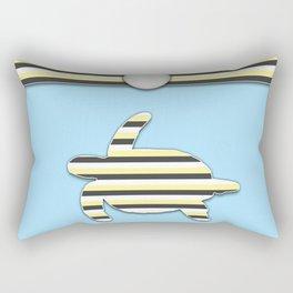 Sea Tortoise Blue and Yellow Stripe Pattern Design Rectangular Pillow
