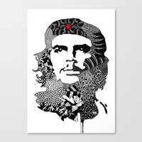 che Canvas Prints featuring CHE by Rebecca Bear