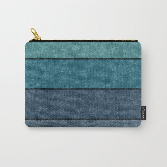 Blue and gray marble striped pattern . Carry-All Pouch