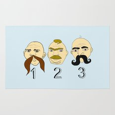 The Three Mustaches Rug