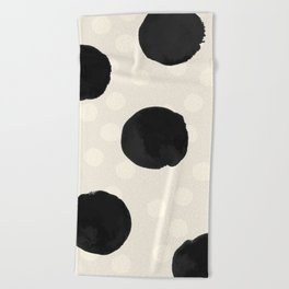 Ink Blots - black Beach Towel