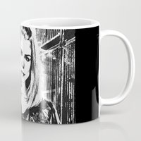 tyler spangler Mugs featuring Rose Tyler by Grace Thanda