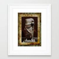 greece Framed Art Prints featuring Greece  by Saundra Myles
