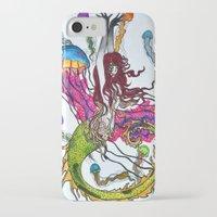 siren iPhone & iPod Cases featuring Siren by Labartwurx