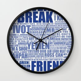 Friends (blue) Wall Clock