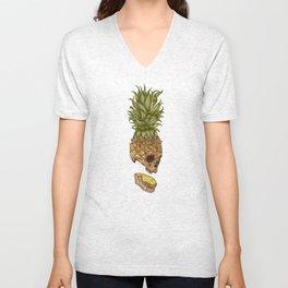 Pineapple Skull Unisex V-Neck