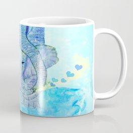 Baby elephant with mom Coffee Mug
