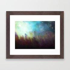 Sad city Framed Art Print