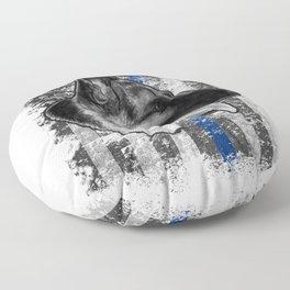 Thin Blue Line German Shepherd Police Dog K9 design Floor Pillow
