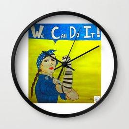 Jewish Rosie the Riveter Wall Clock
