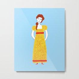 Girl in victorian dress Metal Print